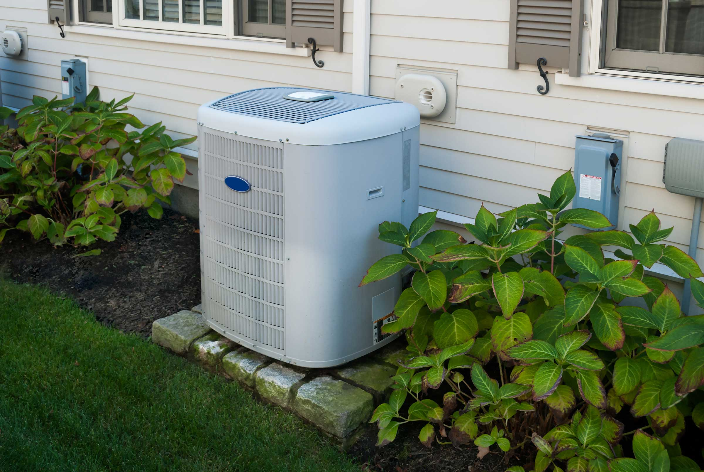 smaller sized outside air conditioning unit